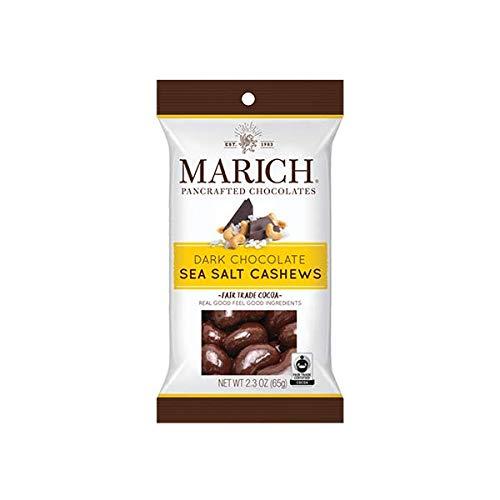 Marich Premium Dark Chocolate Sea Salt Cashews, 2.3-Ounce (Pack of 12)