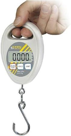 Balanza de colgar [Kern HDB 10K10N] , Campo de pesaje [Max]: 10 kg, Lectura [d]: 10 g