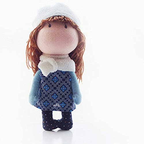 RuiyiF Doll Making Kit for Adults and Kids, DIY Plush Doll Sewing Kit with Clothes, Soft Toys for Girls, Handmade Doll Craft Kit