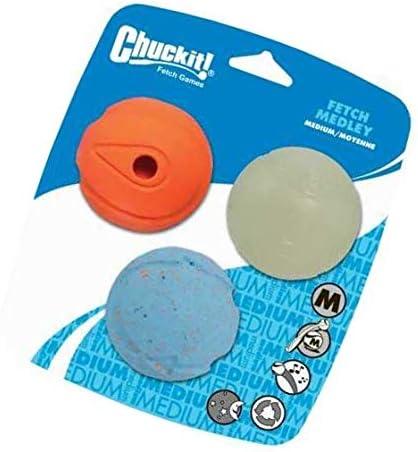 Chuckit Fetch Medley Ball Medium 3 Pack
