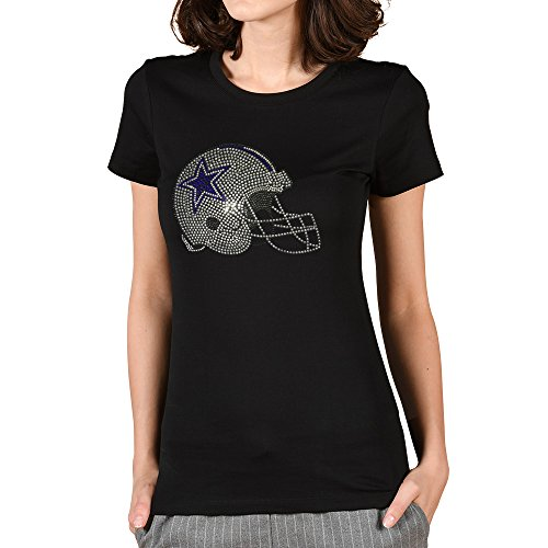 TeezCrew Cowboys Football Apparel Crewneck Tee Cotton Bling Rhinestone Soft Tshirt XX-Large
