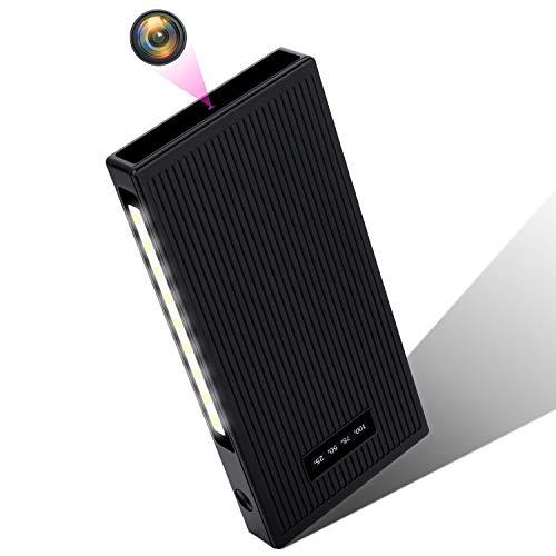 Mini Kamera 32GB 1080P 10000mAh Kleine Kameras Tragbare Überwachungskamera Nanny Mini Kameras mit Bewegungsmelder/Infrarot Nachtsicht/Schwerkrafterkennungsfunktion MEHRWEG