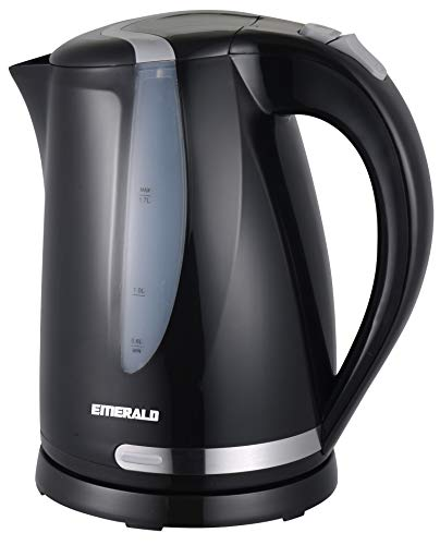 Emerald Electric Tea Kettle, 1.7 Liter BPA FREE Hot Water Boiler, Cordless, Auto-Shutoff & Boil-Dry Protection (1301)