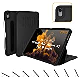 ZUGU CASE (New Model) The Alpha Case for 10.9 Inch iPad Air Gen 4 (2020 ONLY) - Protective, Ultra Thin, Magnetic Stand, Sleep/Wake Cover (Fits Model #s A2072, A2316, A2324, and A2325) - Black