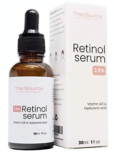 The Source, France 2,5 % de retinol Serum ácido hialurónico vitamina A/E 30 ml ácido hialurónico natural antianging