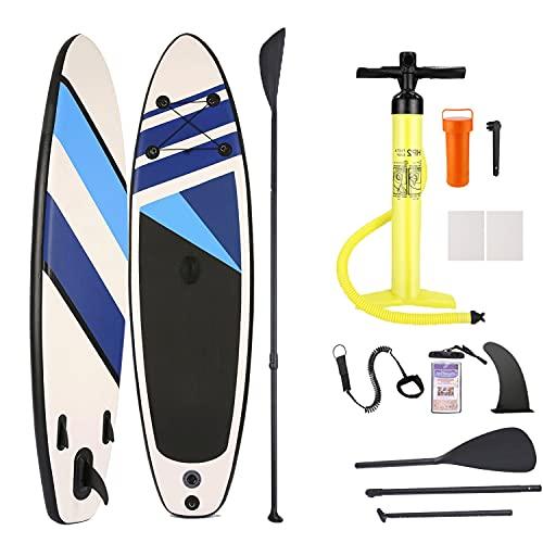 Casulo Tabla de surf de remo hinchable SUP, 305 x 76 x 15 cm, tabla de surf, tabla de surf, tabla de surf de remo, tabla de PVC con accesorios, para principiantes y avanzados