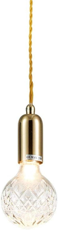 RBB Plafonnier en Verre en Cristal créatif Moderne, Lustre décoratif de Magasin de Barre de Restaurant de Salon, Source Lumineuse G9