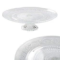 DRULINE cake plate cake plate made of glass Ø 32,5 cm