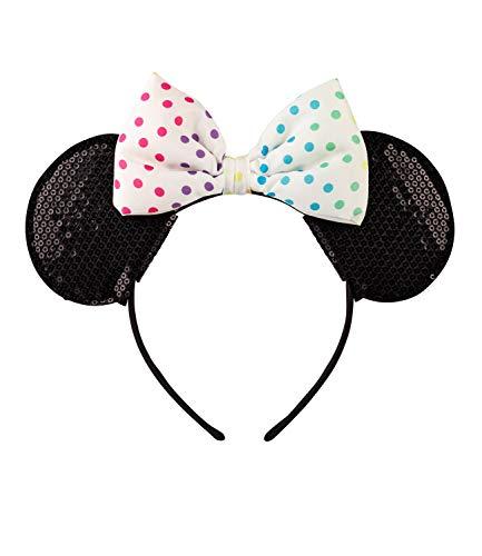 SIX Diadema de Minnie Mouse con orejas y lazo (305-379) de Disney