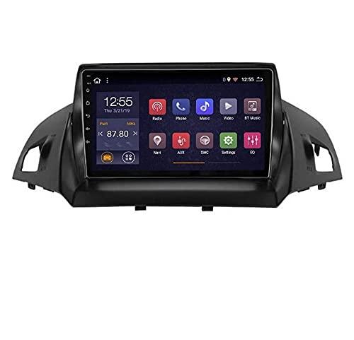 Compatible Ford Kuga 2013-2017 Sat Nav Doble Din Radio estéreo para automóvil Navegación GPS Pantalla táctil de 9 pulgadas Unidad principal Reproductor multimedia Receptor de video Wifi Bluetooth Coc