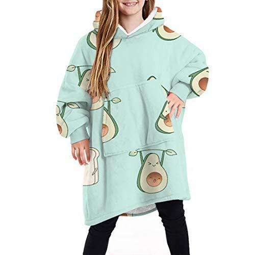 Hoodies, Übergroße Sherpa Hoodie Sweatshirt Decke, Weiche Warme Riesen Hoodie Fronttasche Riesen Plüsch Pullover Decke Mit Kapuze Für Kinder Teenager-Studenten