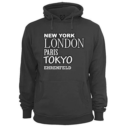 JOllify Unisex Pullover EHRENFELD H213 - Farbe: schwarz - Design 2: New York, London, Paris, Tokyo - Größe M