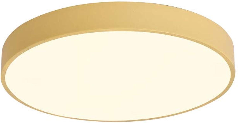 Wandun LED Deckenleuchte, Deckenlampen, Decke Licht, Schlafzimmerlicht, Küche, Wohnzimmer, Bad, Balkon Deckenein bauleuchte [Energieeffizienzklasse A +] (Farbe   Gelb Weiß Light, Gre   40  6cm)