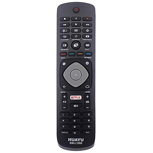 """""""MEHRWEG"""" Telecomando di ricambio per Philips Smart LCD LED TV, con pulsante Netflix, nero (nuovo, sigillato)"""