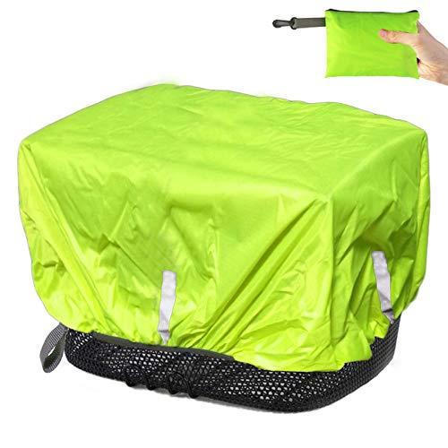 Frelaxy Regenschutz Abdeckung für Fahrradkorb, Wasserdicht Korbabdeckung Fahrradkörbe Regenhülle Regencape Regenhuabe mit Reflektorstreifen