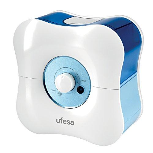Ufesa HF3000 - Humificador, 30W, Capacidad del depósito: 1,7L, 8 h de Autonomía, Ajuste de la cantidad del vapor, Nivel sonoro: 26 dB