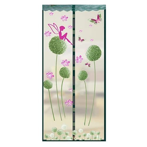 ALIHONG Fly Screen Door, Magnetic Fly Screen Door, Mosquito Net, Easy to Attach, Translucent Magnetic Curtain for Balcony Door Living Room Door No Drilling Required (2,90 * 210cm)