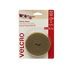 "VELCRO Brand - Sticky Back Hook and Loop Fasteners – Peel and Stick Permanent Adhesive Tape Keeps Classrooms, Home, and Offices Organized – Cut-to-Length Roll | 15ft x 3/4in Tape | Beige 8 New in package. Velcro Sticky Back - 10 Ft x 3/4"" White"