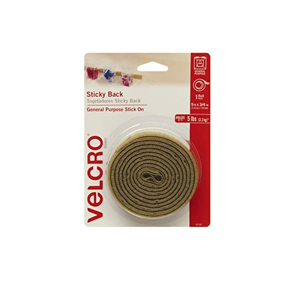 """Velcro brand - sticky back hook and loop fasteners – peel and stick permanent adhesive tape keeps classrooms, home, and… 1 new in package. Velcro sticky back - 10 ft x 3/4"""" white suitable for smooth surfaces: hook and loop fastener adheres to most smooth surfaces; features a strong adhesive to organize at home, school, or office; no sewing, gluing or ironing required strong and secure hold: creates a long-lasting bond that applies easily to smooth surfaces indoors including walls, glass, tile, plastic, metal and wood—ideal for everyday use –the possibilities are endless"""