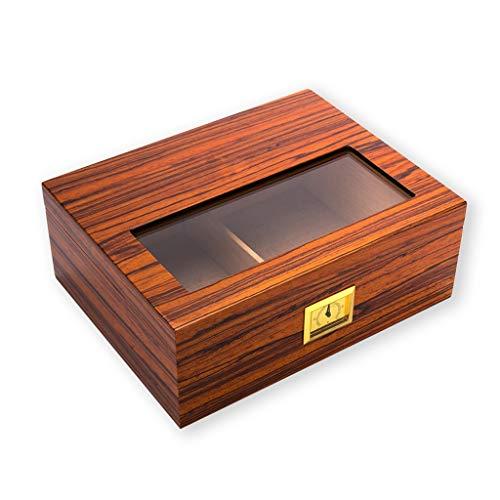JJZXD Casos de cigarros, cigarros Humidor humidificador higrómetro de Casos Humidor Box Fit cigarros con Precisa higrómetro y humidificador (Color : A)