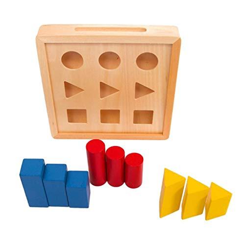 HomeDecTime Montessori Math Shapes Puzzle Toys para Niños Juguetes Educativos Preescolares