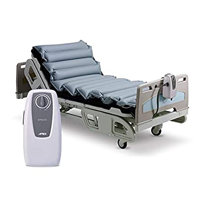 """Apex Medical -5"""" Alternating Pressure Mattress with Electric Pump Overlay System- Pressure Ulcers Sore Prevention & Treatment-Fits Hospital Beds, Domus 2s"""