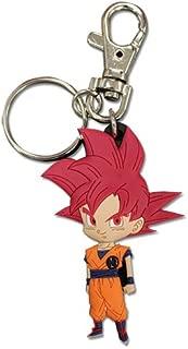 Great Eastern Animation Dragon Ball Super SSG Goku Super Saiyan God Goku PVC Keychain