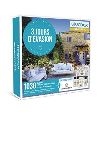 Vivabox - Coffret cadeau couple - 3 JOURS D'EVASION - 1030 week-ends :hôtels 3*ou4*+ 1 kit de voyage