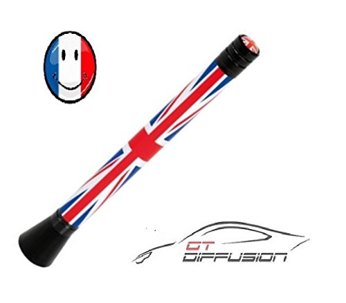 Antenne UK vlag Universal FM-radio - Engelse vlag - Mini Cooper S Countryman Paceman Clubman Roadster Cup JCW Curry Chili Brick Lane, exclusief design Park Lane Hot Spice 192 136 120 One