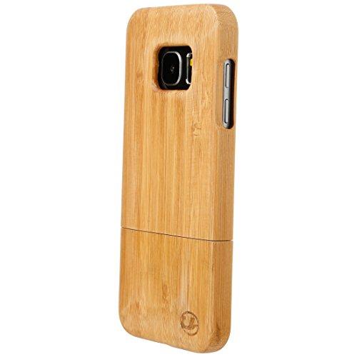 Ultratec Funda protectora para Samsung S7, funda de madera natural de bambú