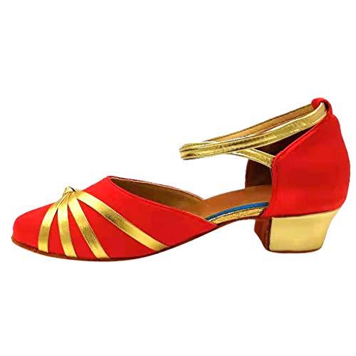 Alwayswin Kinder Mädchen Latin Tango Schuhe Tanzschuhe Kleinkind Baby Dance Schuhe Mode Schnalle Ballroom Dance Schuhe Salsa Bachata Performance Schuhe Geschlossen Tanzschuhe