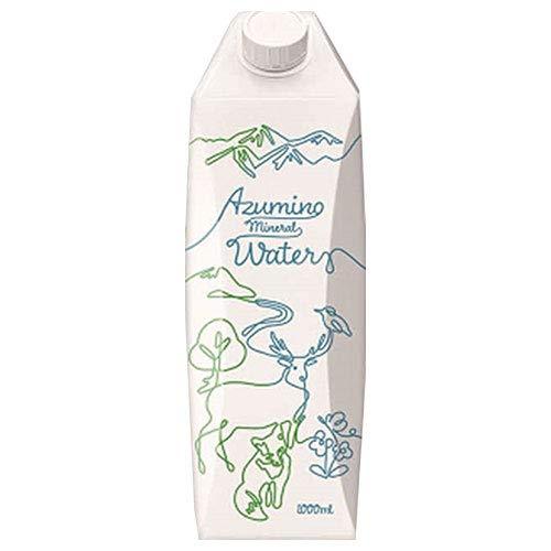 ゴールドパック AZUMINO(安曇野)Mineral Water(ミネラルウォーター) 1L紙パック×6本入