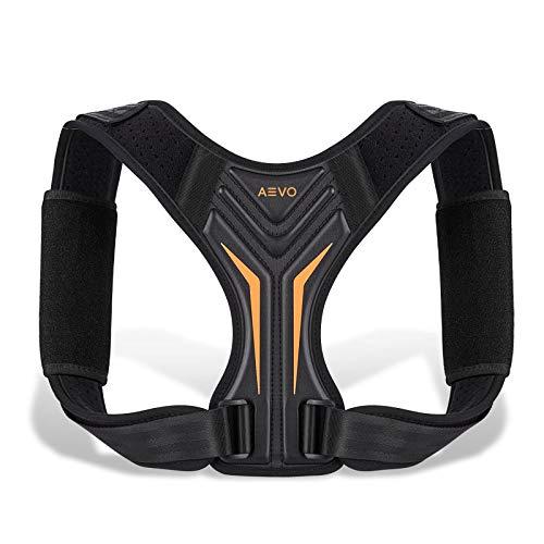 AEVO Corrector de Postura Compacto Unisex, Ajustable Soporte de Clavícula, Cuello, Hombros, Alivia dolor espalda, Placa trasera Cómoda e Invisible, L