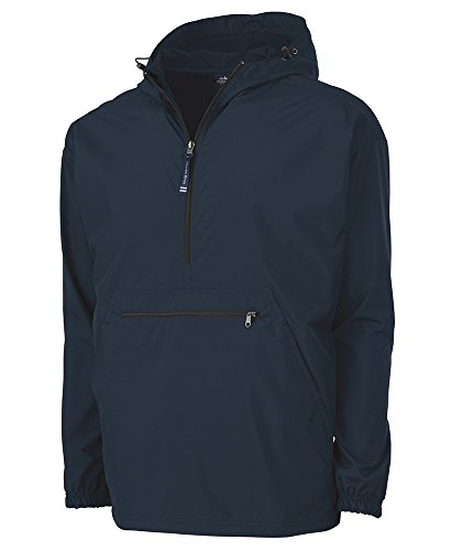 Charles River Apparel Pack-N-Go Wind & Water-Resistant Pullover (Reg/Ext Sizes), Navy, 4XL