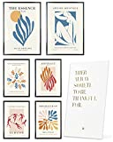 Heimlich Cuadros Decorativos - SIN Marcos -Decoración Colgante para Paredes de Sala, Dormitorios y Cocina - Arte Mural - 2 x A3 & 4 x A4-30x42 & 21x30 | » Abstract Matisse Modern «