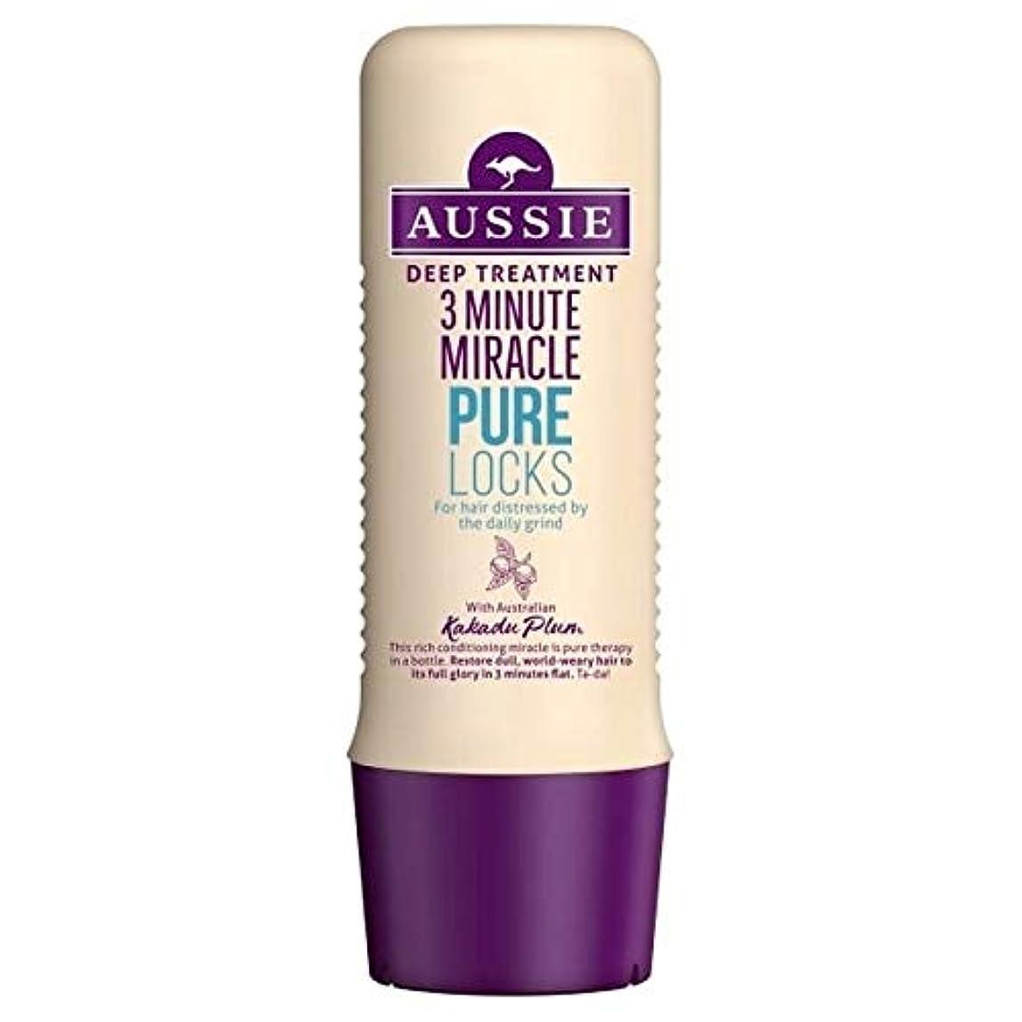 マイルストーン日帰り旅行に見て[Aussie ] オーストラリアの純粋なロック3分の奇跡の250ミリリットル - Aussie Pure Locks 3 Minute Miracle 250ml [並行輸入品]