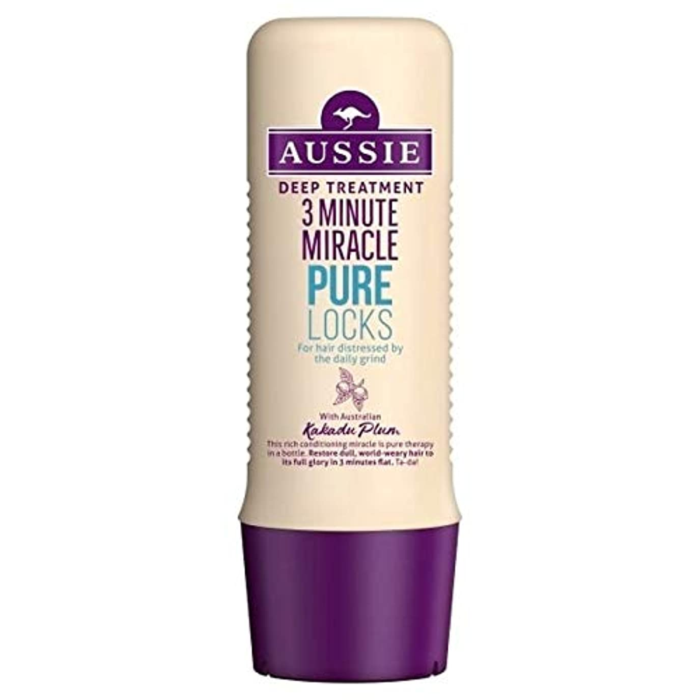 警告ウィザードプランター[Aussie ] オーストラリアの純粋なロック3分の奇跡の250ミリリットル - Aussie Pure Locks 3 Minute Miracle 250ml [並行輸入品]