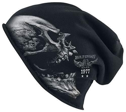 Alchemy England Alchoboros Homme Bonnet Noir, 95% Coton, 5% Élasthanne,