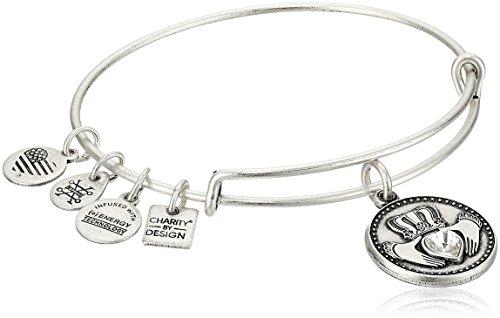 Alex and Ani Claddagh Rafaelian Silver Bangle Bracelet