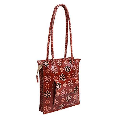 Lonika Collections leather bags for women Shoulder Bag Vintage Handbag Tote Purse (Brown)