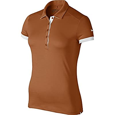 Nike Golf Womens Victory Colorblock Polo Desert Orange/White CLOSEOUT 725583-802 (Small)