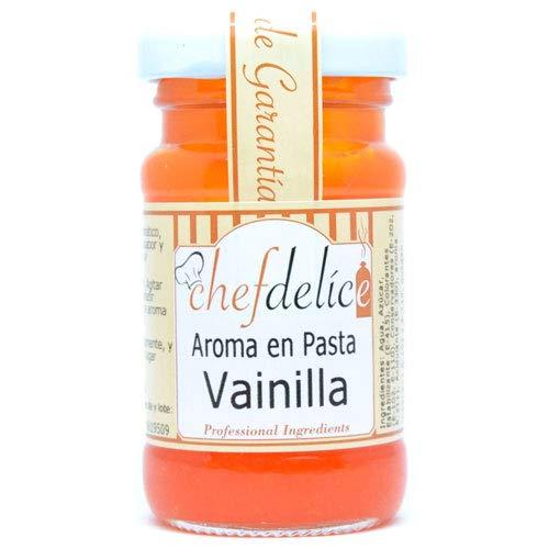 Chefdelice Chefdelice Aroma En Pasta Emulsión Concentrado Para Glaseados, Helados, Horneados Y Cremas Sabor Vainilla, 50G Chefdelice 50 g