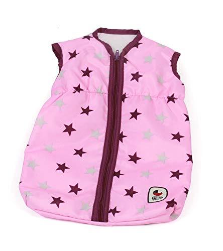 Bayer Chic 2000 792 78 Puppen-Schlafsack für Babypuppen, Stars Brombeere, rosa