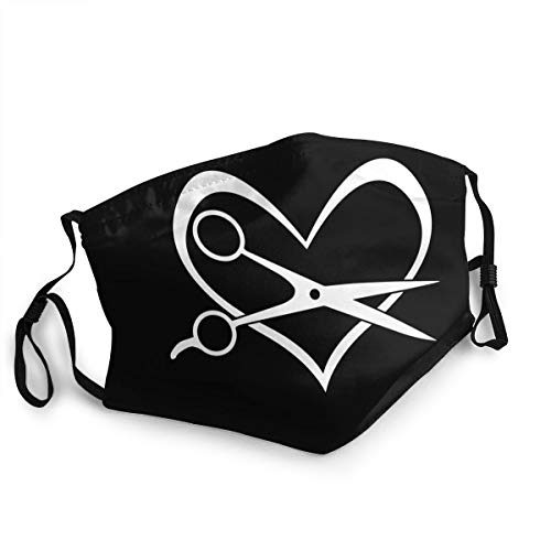 Hairstylist Heart Unisex Cover Pm2.5 Face Bandana for Outdoor Ski Mouth Scarf Shield 1 PCS