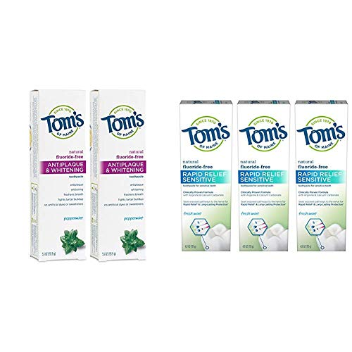 Tom's of Maine Antiplaque and Whitening Fluoride Free Toothpaste Ingredients