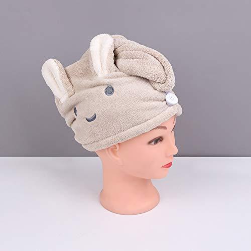Gorro de pelo seco de microfibra, toalla de pelo seco, para mujer, secado rápido, cabeza turbante, gorro de baño, secado suave, color burdeos, tamaño: 1 unidad