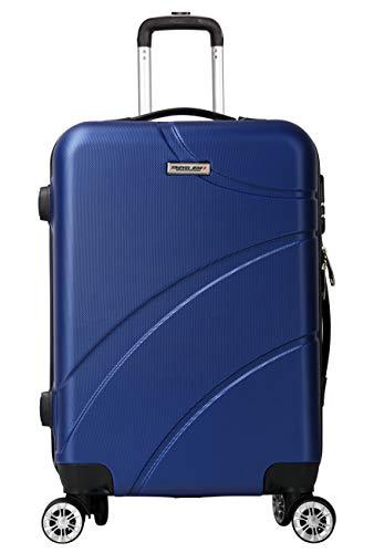 Travel One Seaview Maleta Equipaje de Mano Cabina rígida 57 Cm 42 Liters 8 Ruedas Combinaison Candado Azul