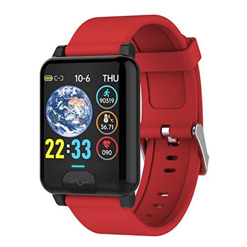 LHL E04S Deportes SmartWatch IP68 ECG Impermeable ECG + PPG Ritmo cardíaco y presión Arterial Compartir Datos en Tiempo Real Sports Smart Watch para Android iOS,C