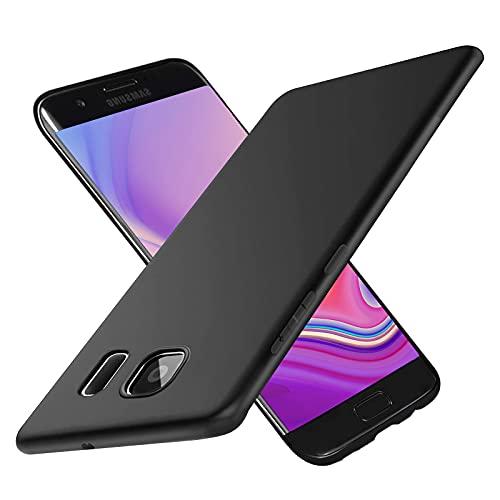 Hülle für Samsung Galaxy S7, Anti-Kratzer Stoßfestigkeit TPU Silikon Schwarz Handyhülle, Anti Fingerabdruck, Anti-Kratzer Stoßfestigkeit Schutzhülle für Samsung Galaxy S7 - (Schwarz)