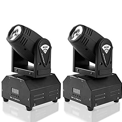 MFL. 10w LED Moving Head Light RGBW Stage Light Mini Moving Beams Rotating Moving Head DMX512 Sound Activated Master-slave Auto Running for DJ Party Disco KTV Nightclub Lives 2 pcs(Beam Light)